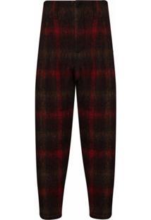 Nicholas Daley Calça Com Padronagem Xadrez - Vermelho