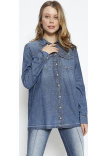 Camisa Jeans Com PuãDos - Azul - Colccicolcci