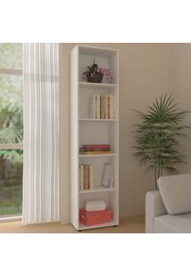 Estante Para Livros Clean 4 Prateleiras Branco 005327 - Artany