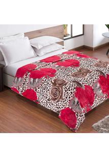 Cobertor / Manta Casal Microfibra Flanel Sweet Camelia - 200 Gramas/M2