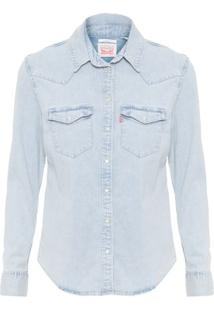 Camisa Manga Longa Jeans Levi'S Womens - Azul