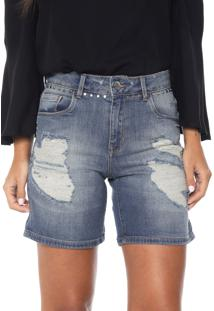 Bermuda Jeans Lez A Lez Venice Azul