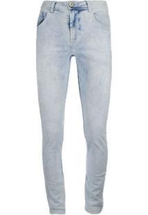 Calça Knt Jeans Desbotada - Masculino-Azul
