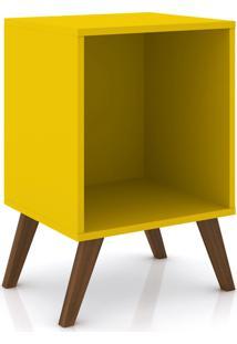 Rack Auxiliar Sem Porta Móvel Bento Amarelo