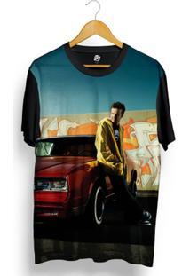 Camiseta Bsc Jesse Pinkman Full Print - Masculino-Preto