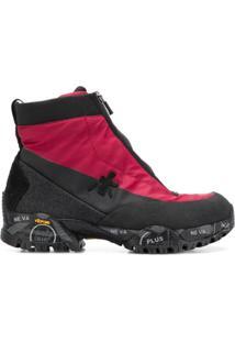 Premiata Ankle Boot De Couro - Vermelho