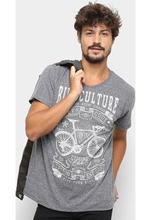 Camiseta Triton Estampada Masculina - Masculino-Cinza