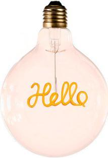 Lâmpada Com Filamento Para Pendente Hello Luz Amarela