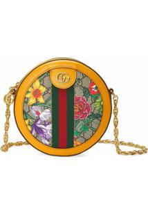 Gucci Bolsa Tiracolo Ophidia Mini Com Estampa Gg Supreme Flora - Amarelo