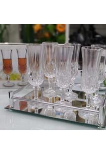 Conjunto De 6 Taças De Vidro Transparente - Tricae
