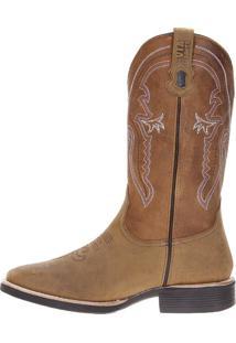 Bota Country Via Boots Dourado