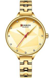 Relógio Curren Analógico C9047L - Dourado - Tricae
