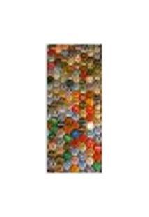 Adesivo Decorativo De Porta - Tampas De Garrafas - Cerveja - 126Cnpt Auto Colante