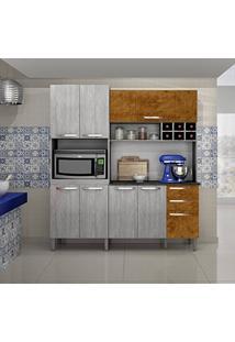 Armário De Cozinha 8 Portas Milão Sallêto Móveis Rovere/Mel Demolição