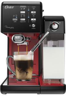 Cafeteira Prima Latte Evolution Preta/Vermelha 127V Oster