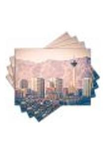 Jogo Americano - Las Vegas Vintage Com 4 Peças - 440Jo