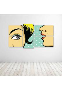 Quadro Decorativo - Speak Womans Pop Art - Composto De 5 Quadros - Multicolorido - Dafiti