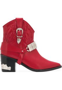 Toga Pulla Ankle Boot Western - Vermelho