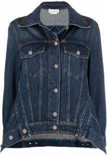 Alexander Mcqueen Spread-Collar Denim Jacket - Azul