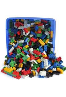 Baú Criativo Com 1000 Peças Tipo Lego Baú E Peças Plasticas
