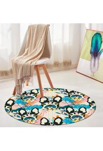 Tapete Redondo Wevans Pop Art Bulldog 94Cm