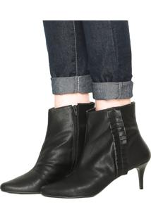 Bota Dafiti Shoes Babado Preta