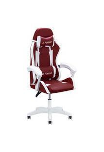 Cadeira Gamer Home Office Cereja Com Branco