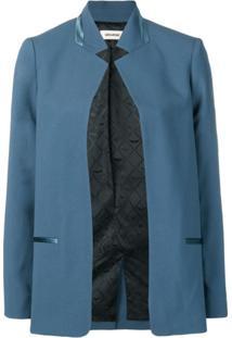 Zadig&Voltaire Blazer Com Abertura - Azul