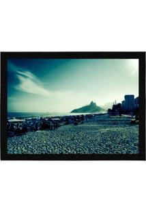 Capacho - Tapete Colours Creative Photo Decor - Praia De Ipanema No Rio De Janeiro, Rj Azul