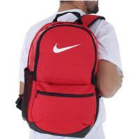 e9e88aa74 Mochila Nike Brasilia Backpack M - 24 Litros - Vermelho/Preto Centauro