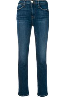 Frame Slim Fit Jeans - Azul