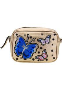 Bolsa Feminina Transversal Arara Dourada - Lt8130 Ouro