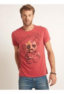 Camiseta John John Rg Rad Bones Malha Vermelho Masculina Tshirt Rg Rad Bones-Vermelho Medio-P