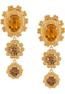Dolce & Gabbana Par De Brincos Oversized - Dourado