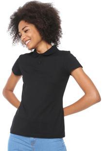 Camisa Polo Malwee Básica Preta