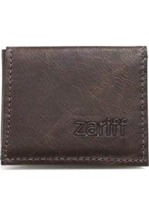 Carteira Zariff Shoes Couro Cartão Marrom