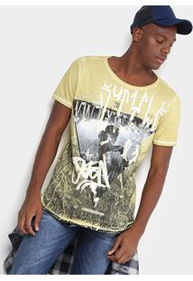 Camiseta Opera Rock Estampada Masculina - Masculino-Amarelo