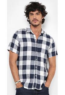 Camisa Xadrez Pacific Blue Masculina - Masculino