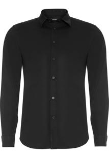 Camisa Masculina Bill Camicia - Preto