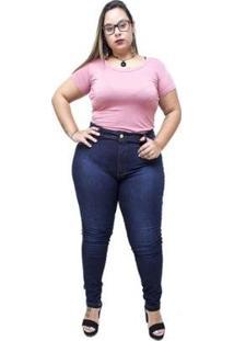 Calça Jeans Latitude Plus Size Skinny Almezina Latitude Jeans Feminina - Feminino