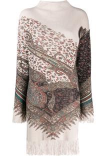 Etro Fringe Sweater Dress - Neutro