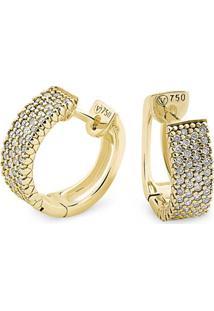 Brinco Ouro Amarelo E Diamantes