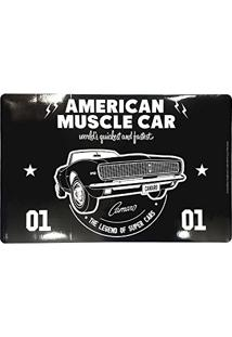 Jogo Americano Pvc Gm American Muscle Car Preto