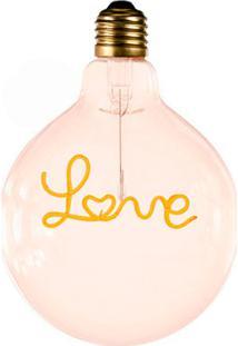 Lâmpada Decorativa Para Pendente Love Luz Amarela