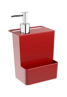 Dispenser Multi Glass 12 X 10,6 X 20,8 Cm 600 Ml Vermelho Bold Coza