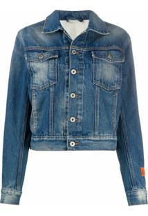 Heron Preston Faded Denim Jackets - Azul