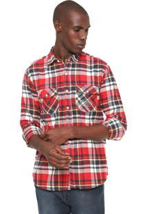 Camisa Von Dutch Xadrez Flanelada Vermelha/Bege