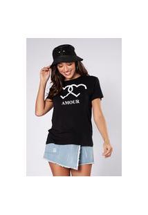 Camiseta Preview Amour Preto