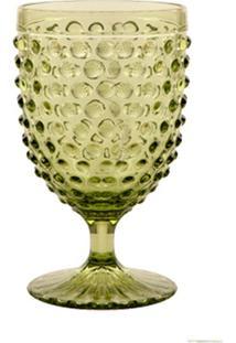Taça De Vidro 350 Ml Hobnail Green