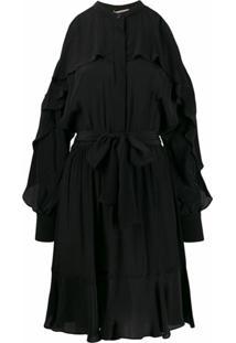 Twinset Vestido Com Vazados Nos Ombros - Preto